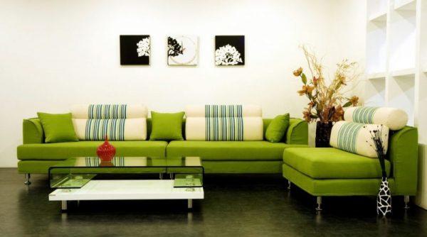Chọn màu sofa phù hợp với không gian chung của phòng khách